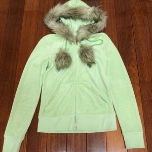 Juicy Couture Faux Fur Lined Hoodie